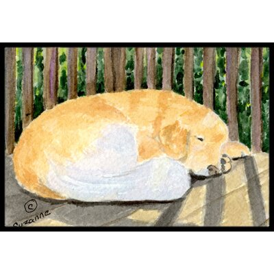 Golden Retriever Doormat Rug Size: Rectangle 16 x 2 3