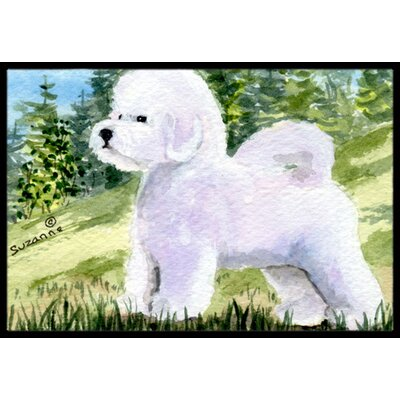 Bichon Frise Rectangle Doormat Rug Size: 2 x 3