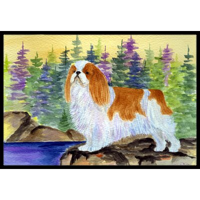 English Toy Spaniel Doormat Rug Size: Rectangle 2 x 3