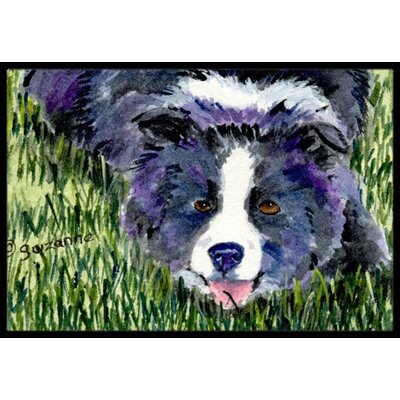 Border Collie Doormat Rug Size: Rectangle 2 x 3