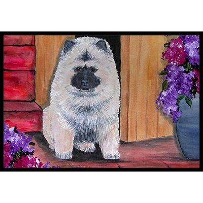 Keeshond Doormat Mat Size: Rectangle 16 x 2 3