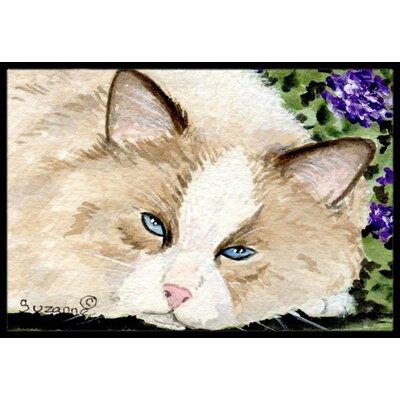 Cat Doormat Rug Size: 2 x 3