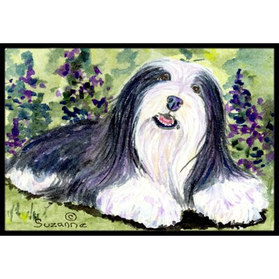 Bearded Collie Doormat Rug Size: Rectangle 2 x 3