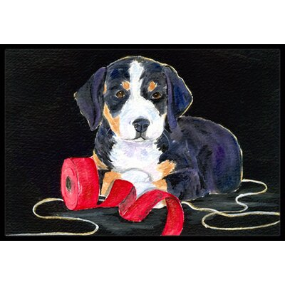 Entlebucher Mountain Dog Doormat Rug Size: 16 x 2 3