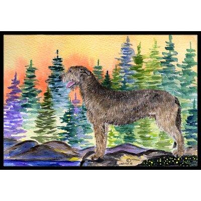 Irish Wolfhound Doormat Rug Size: 2 x 3