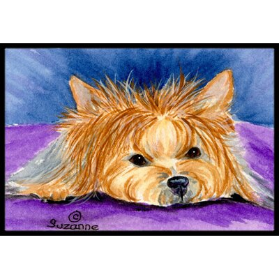 Yorkie Doormat Mat Size: Rectangle 2 x 3