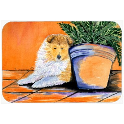Sheltie Kitchen/Bath Mat Size: 24 H x 36 W x 0.25 D