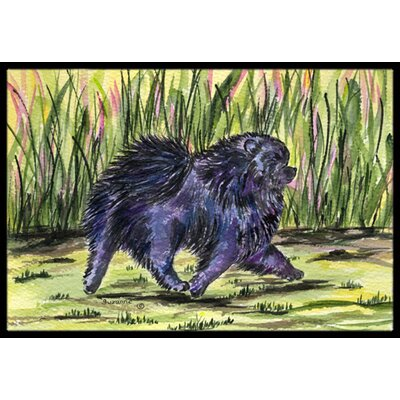 Purple Pomeranian Doormat Rug Size: Rectangle 2 x 3