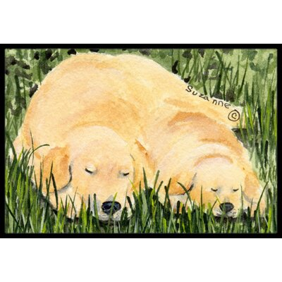 Golden Retriever Doormat Rug Size: Rectangle 2 x 3