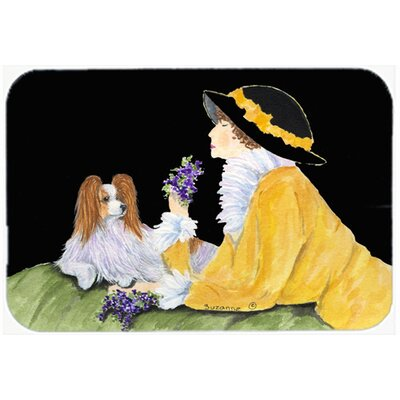 Papillon Kitchen/Bath Mat Size: 24 H x 36 W x 0.25 D