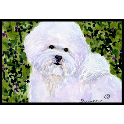 Bichon Frise Doormat Mat Size: Rectangle 2 x 3