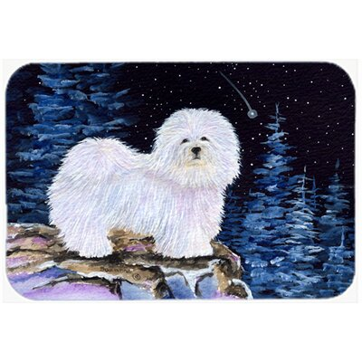 Starry Night Coton De Tulear Kitchen/Bath Mat Size: 20 H x 30 W x 0.25 D