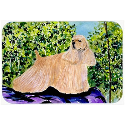 Cocker Spaniel Kitchen/Bath Mat Size: 20 H x 30 W x 0.25 D