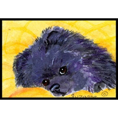 Pomeranian Doormat Mat Size: Rectangle 2 x 3