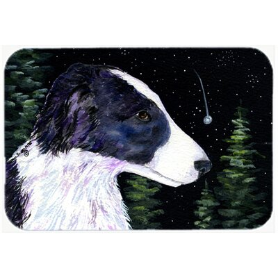 Starry Night Border Collie Kitchen/Bath Mat