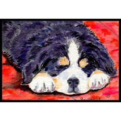 Bernese Mountain Dog Rectangle Doormat Rug Size: Rectangle 16 x 2 3