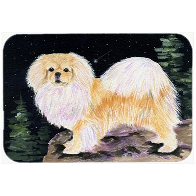 Starry Night Tibetan Spaniel Kitchen/Bath Mat