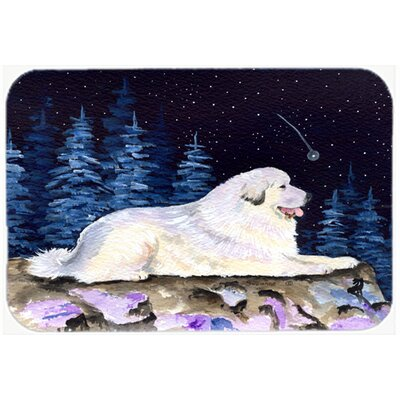 Starry Night Great Pyrenees Kitchen/Bath Mat Size: 24 H x 36 W x 0.25 D