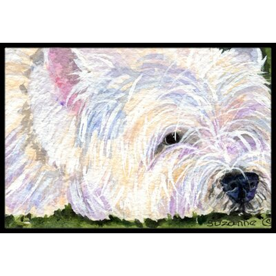 Westie Doormat Mat Size: Rectangle 16 x 2 3