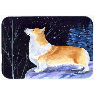 Starry Night Corgi Kitchen/Bath Mat Size: 20 H x 30 W x 0.25 D