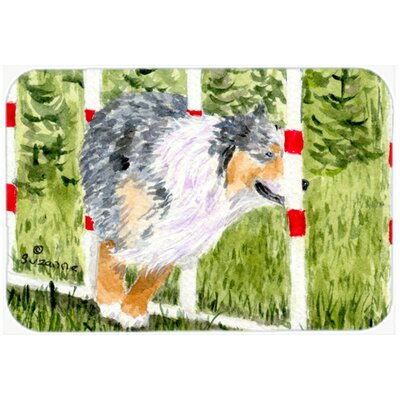 Australian Shepherd Kitchen/Bath Mat Size: 24