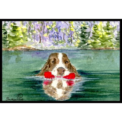 Springer Spaniel Doormat Rug Size: Rectangle 16 x 2 3