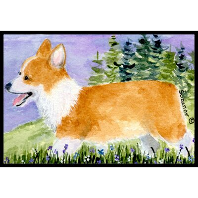 Corgi Doormat Rug Size: Rectangle 2 x 3