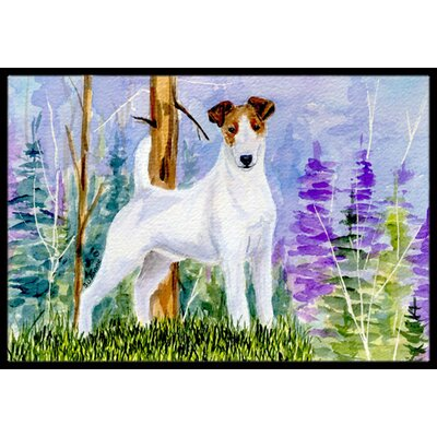 Jack Russell Terrier Doormat Rug Size: Rectangle 2 x 3