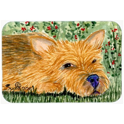 Norwich Terrier Kitchen/Bath Mat Size: 24