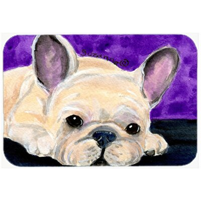 French Bulldog Kitchen/Bath Mat Size: 24