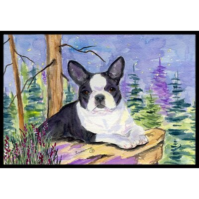 Boston Terrier Doormat Mat Size: Rectangle 2 x 3