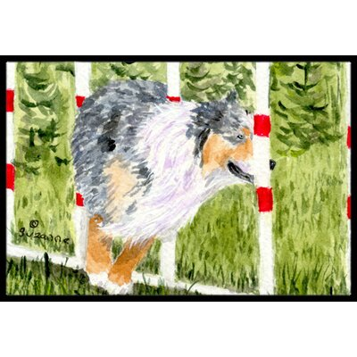 Australian Shepherd Doormat Mat Size: Rectangle 2 x 3