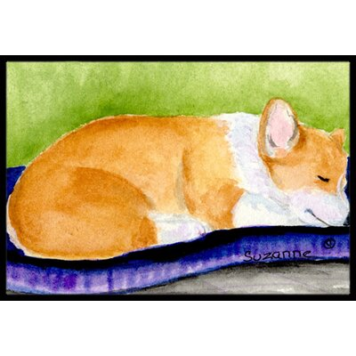 Corgi Doormat Rug Size: 2 x 3