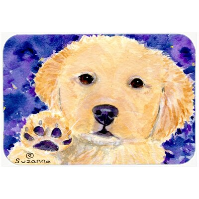 Golden Retriever Kitchen/Bath Mat Size: 24 H x 36 W x 0.25 D