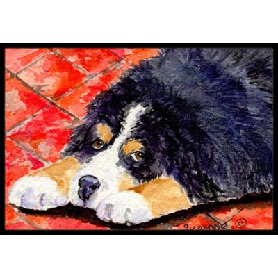 Rectangle Dog Doormat Mat Size: Rectangle 16 x 2 3