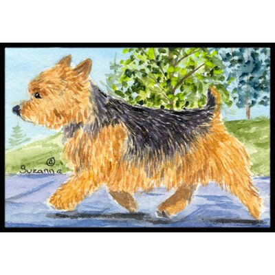 Norwich Terrier Doormat Rug Size: Rectangle 2 x 3