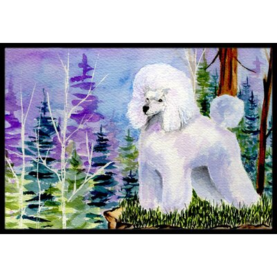Poodle Doormat Rug Size: Rectangle 16 x 2 3