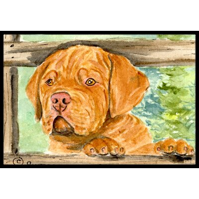 Dogue De Bordeaux Doormat Mat Size: Rectangle 16 x 2 3