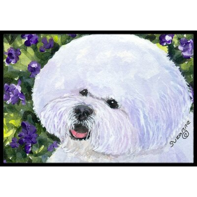 Bichon Frise Doormat Rug Size: Rectangle 16 x 2 3
