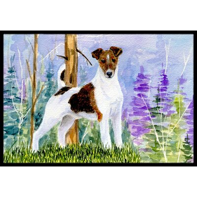 Jack Russell Terrier Doormat Mat Size: Rectangle 2 x 3