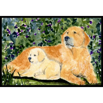 Dog Rectangle Indoor/Outdoor Doormat Rug Size: 2 x 3