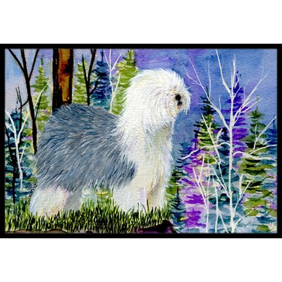 Old English Sheepdog Doormat Rug Size: 2 x 3