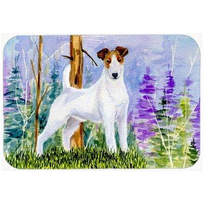 Jack Russell Terrier Kitchen/Bath Mat Size: 24 H x 36 W x 0.25 D
