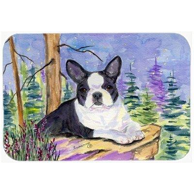 Boston Terrier Kitchen/Bath Mat Size: 24 H x 36 W x 0.25 D