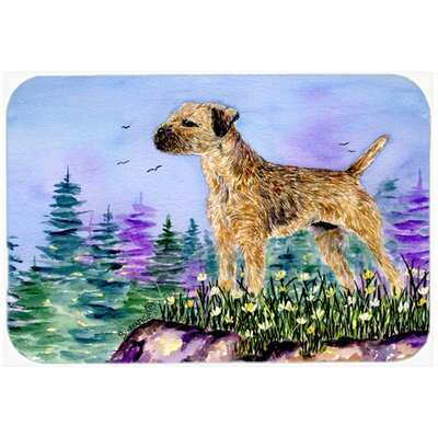 Border Terrier Kitchen/Bath Mat Size: 24 H x 36 W x 0.25 D