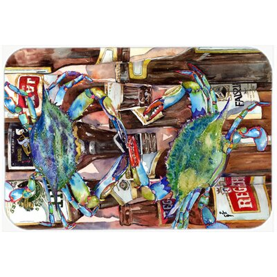 Crabby New Orleans Beer Bottles Kitchen/Bath Mat Size: 20 H x 30 W x 0.25 D