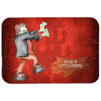 Little House Of Horrors with Frankenstein Halloween Kitchen/Bath Mat Size: 20 H x 30 W x 0.25 D