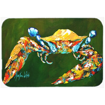Go Green Crab Kitchen/Bath Mat Size: 24 H x 36 W x 0.25 D