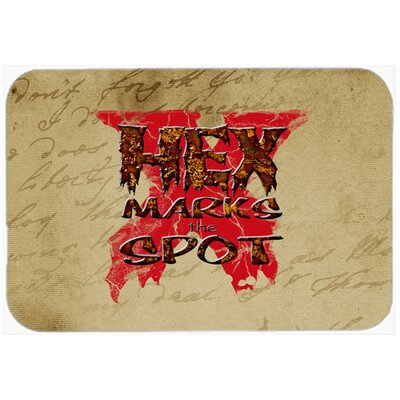 Hex Marks The Spot Halloween Kitchen/Bath Mat Size: 24 H x 36 W x 0.25 D