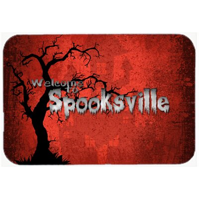 Welcome To Spooksville Halloween Kitchen/Bath Mat Size: 20 H x 30 W x 0.25 D